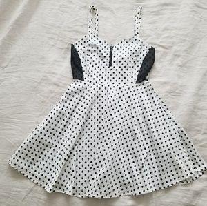 Hot Topic White & Black Skull Print Dress